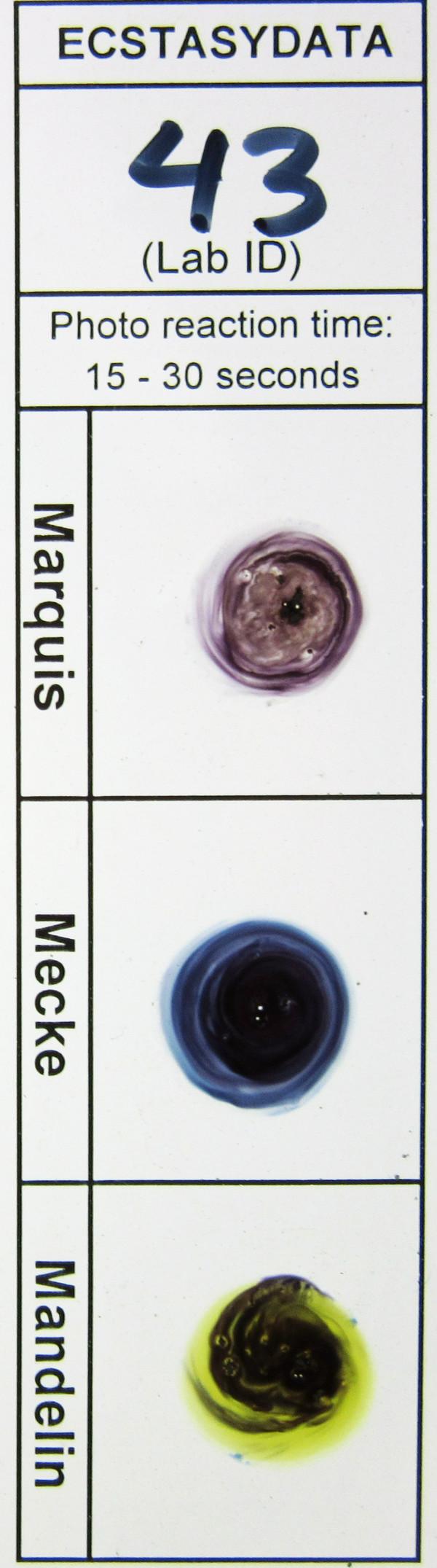 EcstasyData org: Test Details : Result #4503 - Blue Paul Frank